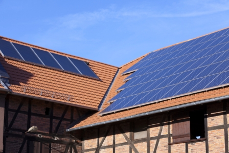 image of solar panels on rooftop