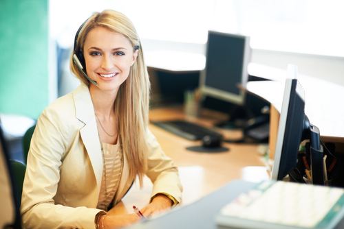 image of receptionist