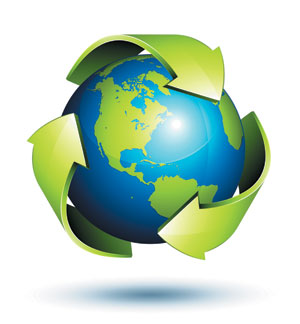image of recycling globe